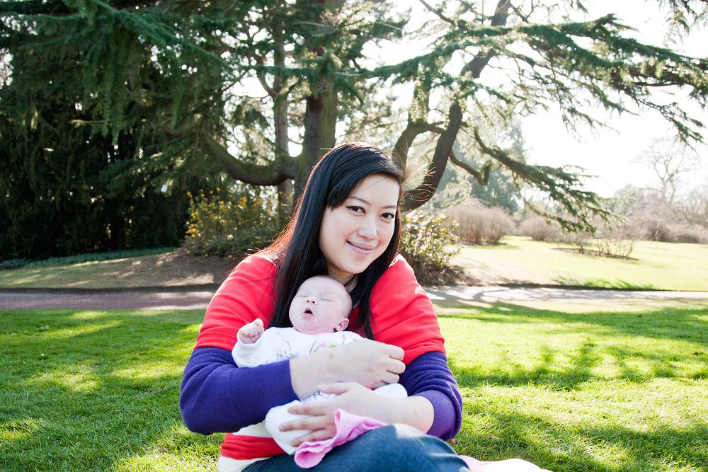 Royal Botanical Gardens Edinburgh with a baby