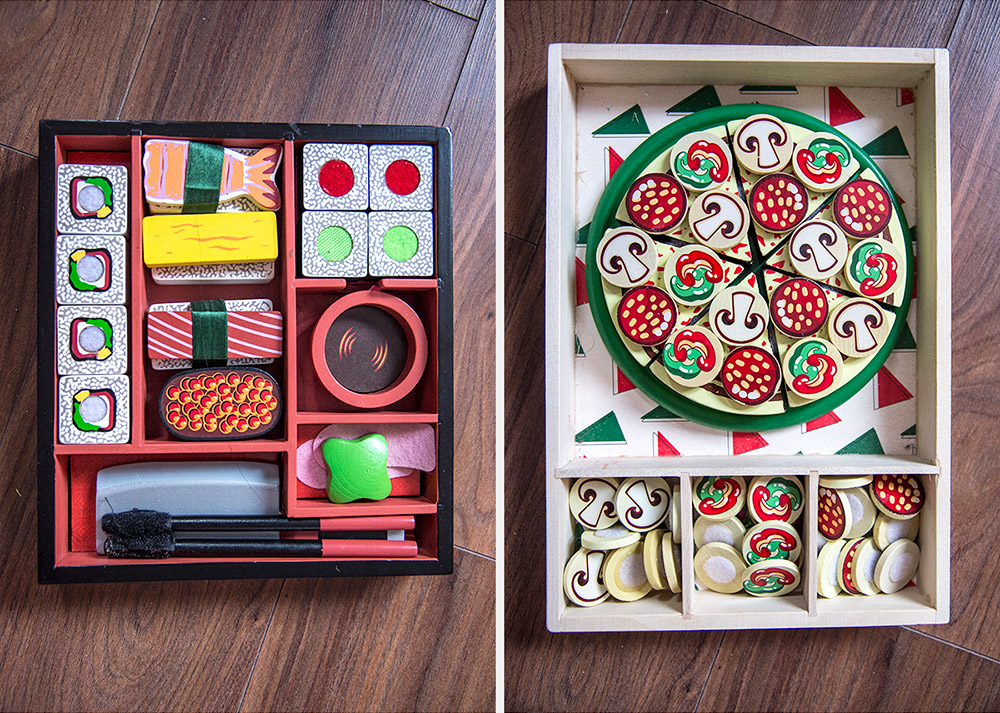 Melissa and Doug Pizza Party and Slicing Sushi Set