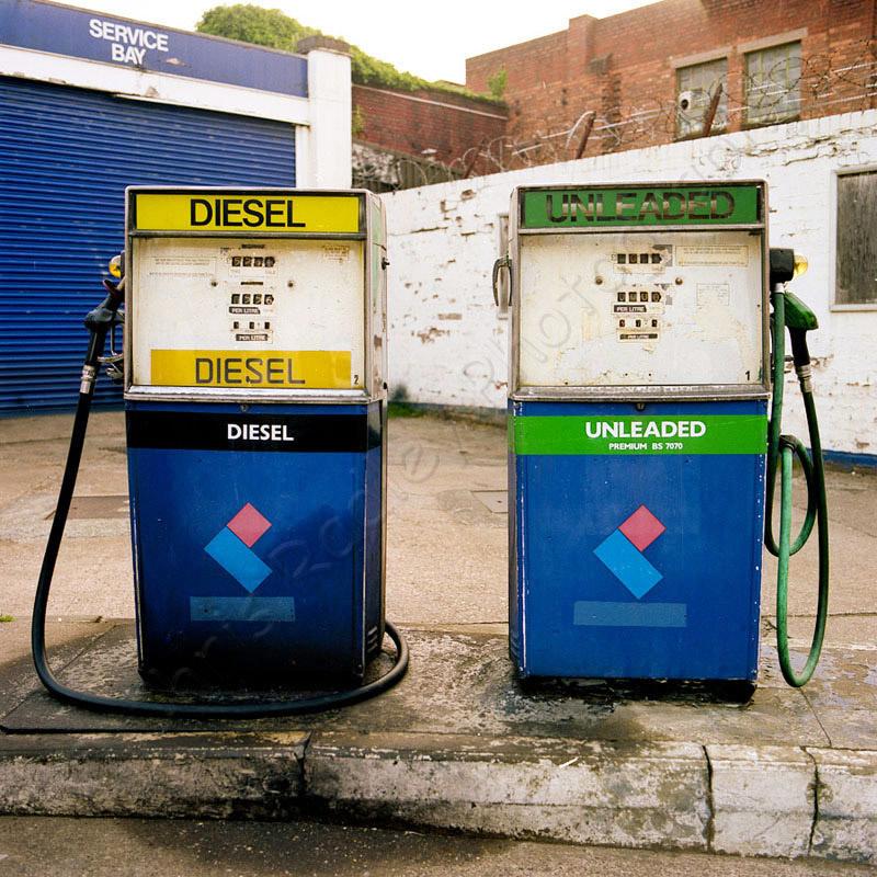 Vintage petrol pumps Birmingham Jewellery Quarter