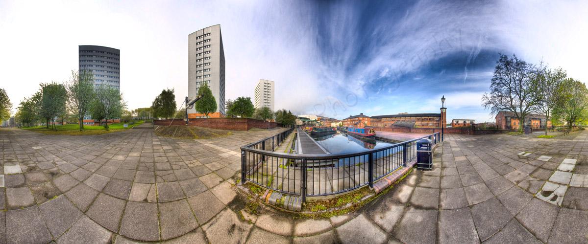 Birmingham Canal Sky Panoramic