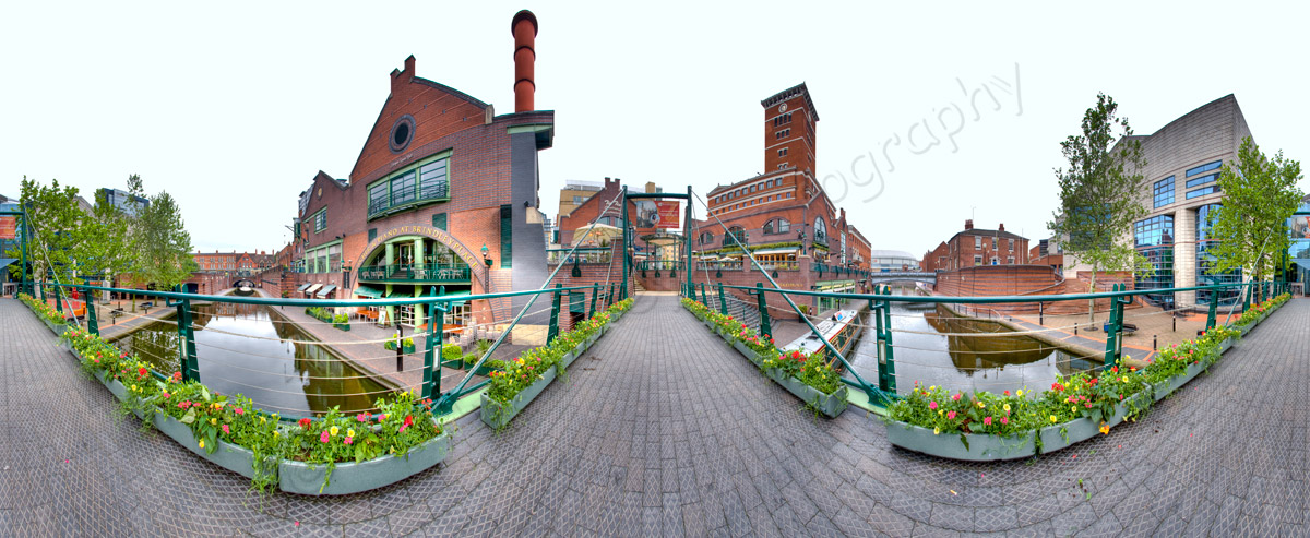 Brindleyplace Birmingham 360 degree panoramic
