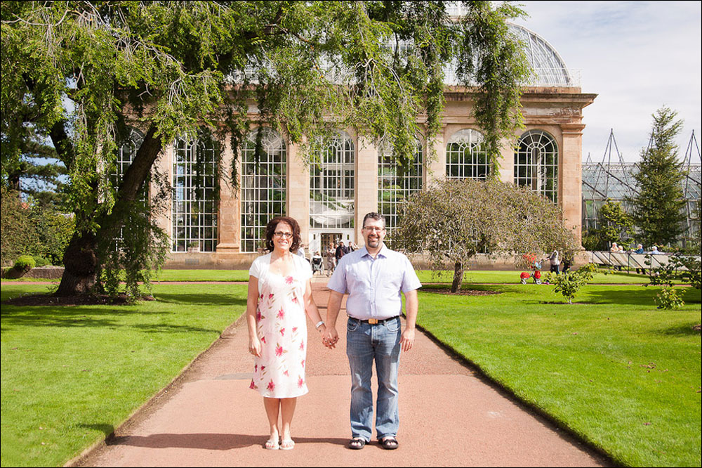 Royal Botanical Garden Edinburgh Engagement Shoot