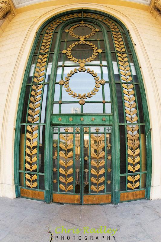 Shanghai Exhibition Center door fisheye