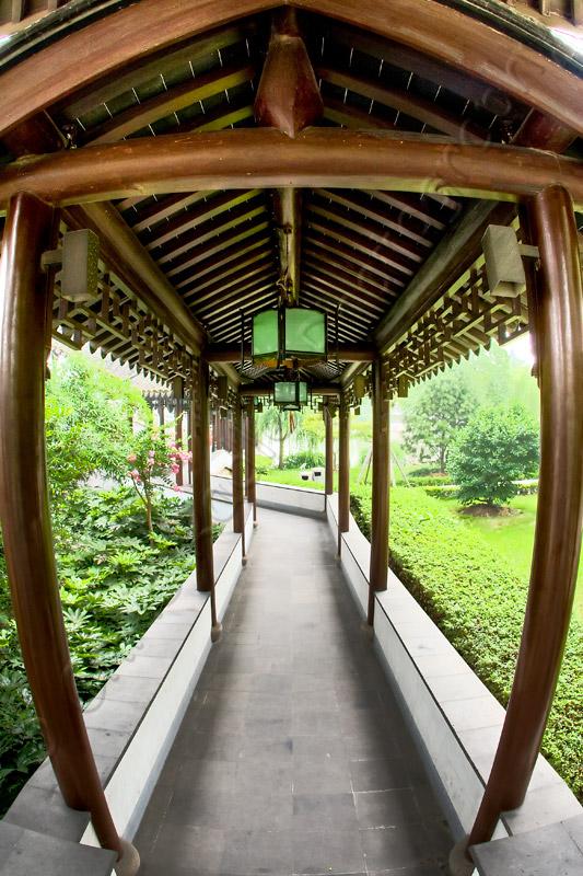 Fisheye Path in Panmen Garden