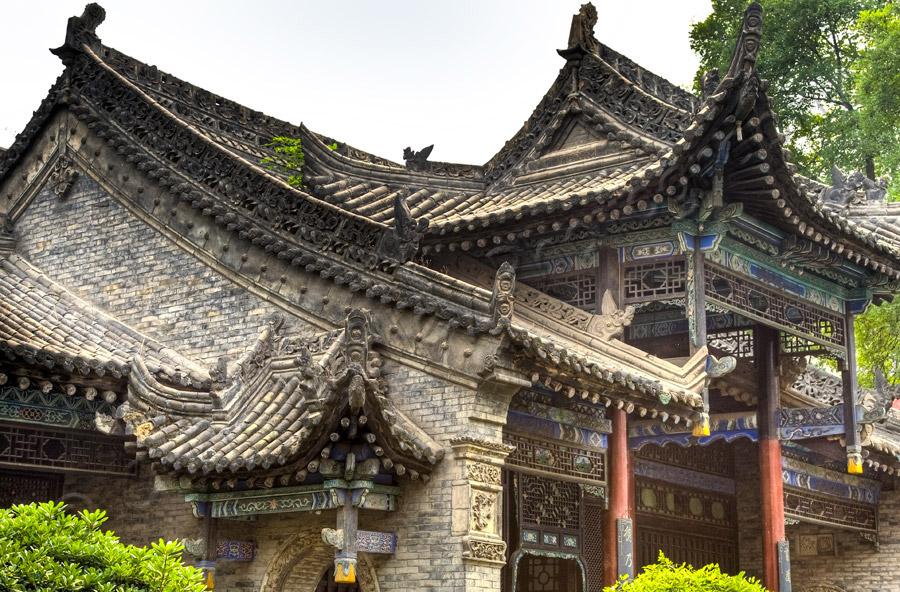 Xian Great Mosque Rooftop