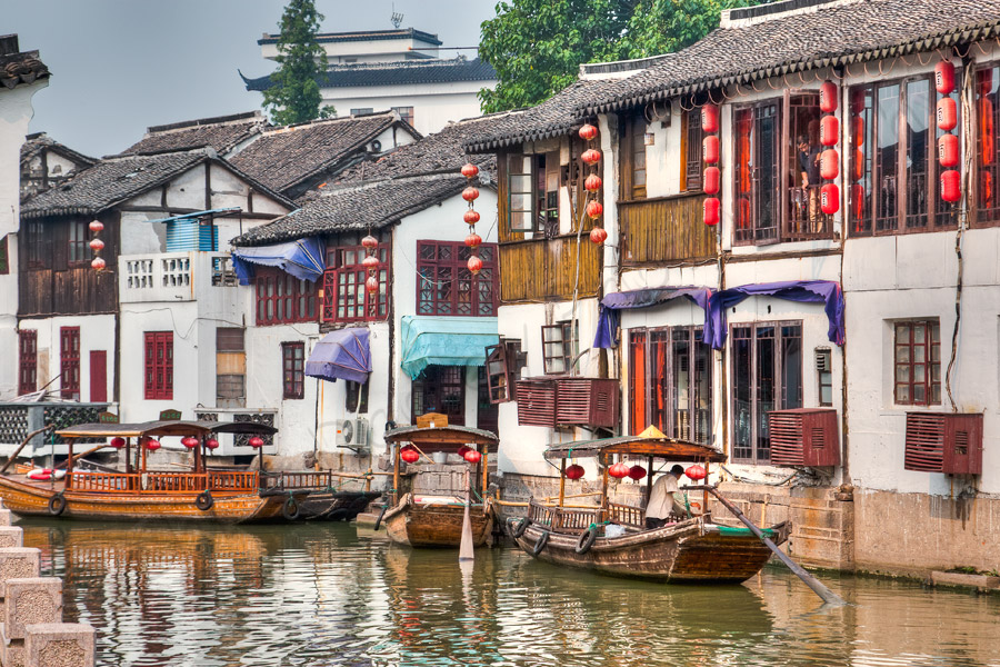 Zhu Jia Jiao China Boats