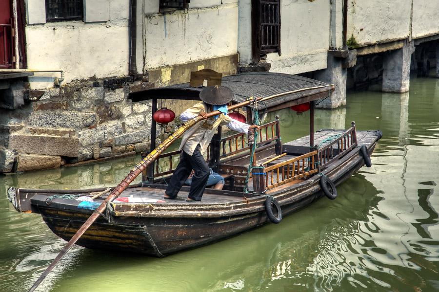 Water taxi in Zhu Jia Jiao