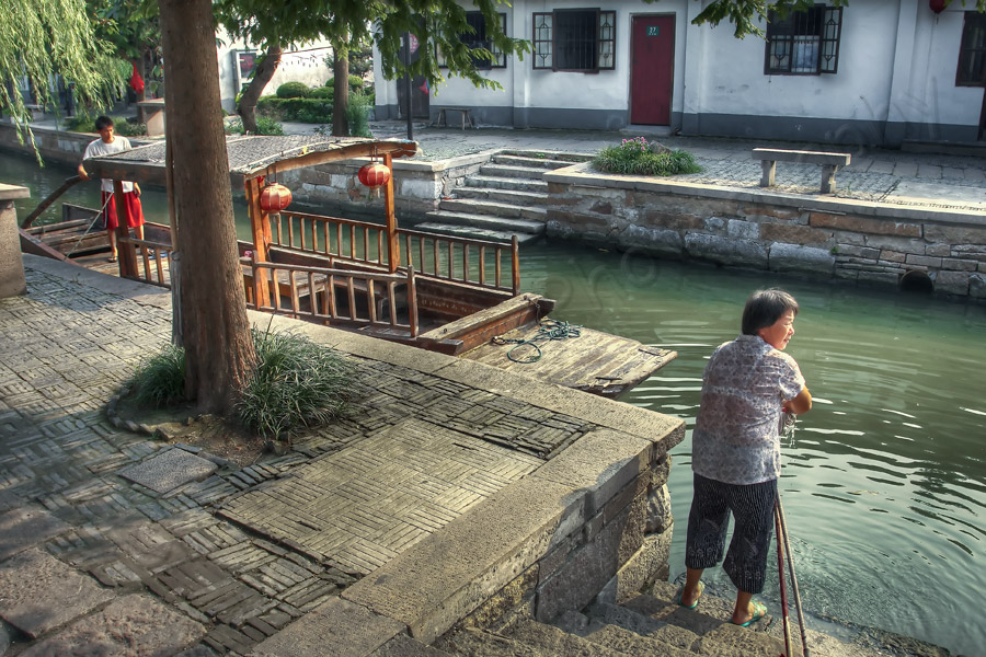 Washing up Zhu Jia Jiao