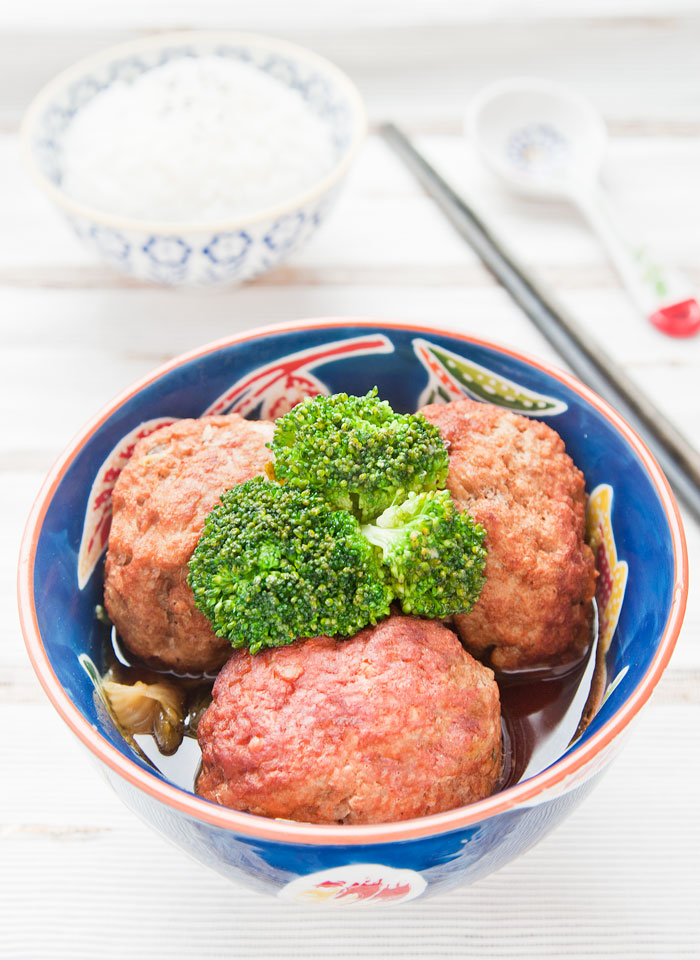 Authentic Lion Head Meatballs as cooked by Taiwanese Chef Liv Wan