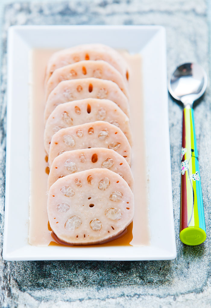 Authentic Chinese steamed lotus root recipe complete with sweet sticky rice