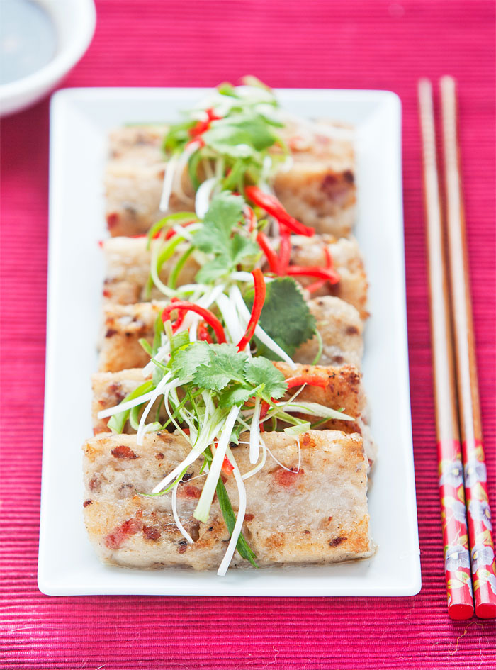 Authentic Chinese turnip cake recipe as cooked by Taiwanese chef Liv Wan