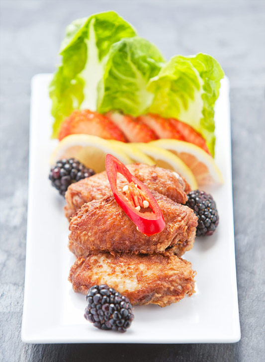Authentic Chinese Style Deep Fried Chicken Wings recipe