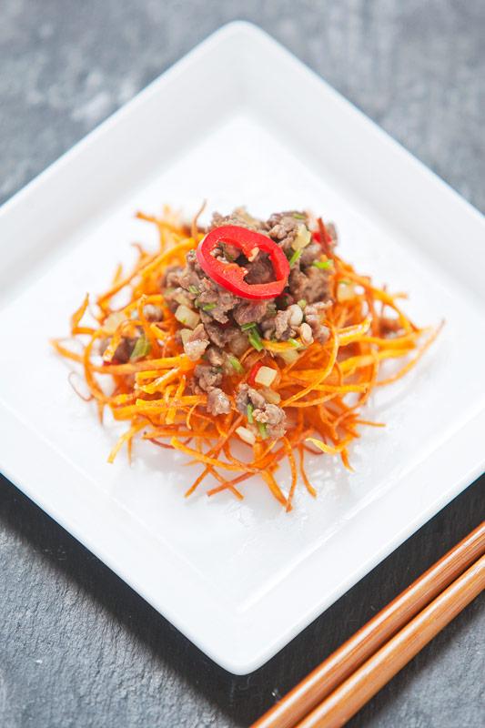 Chinese Taiwanese Coriander Chili Beef Mince recipe