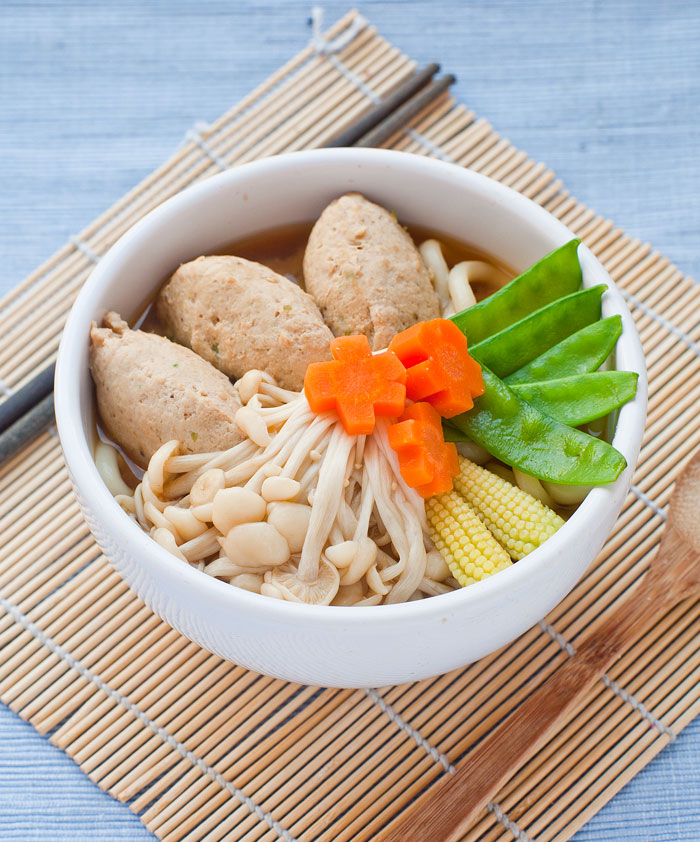 Japanese Chicken Meatball and Udon Noodle Soup recipe