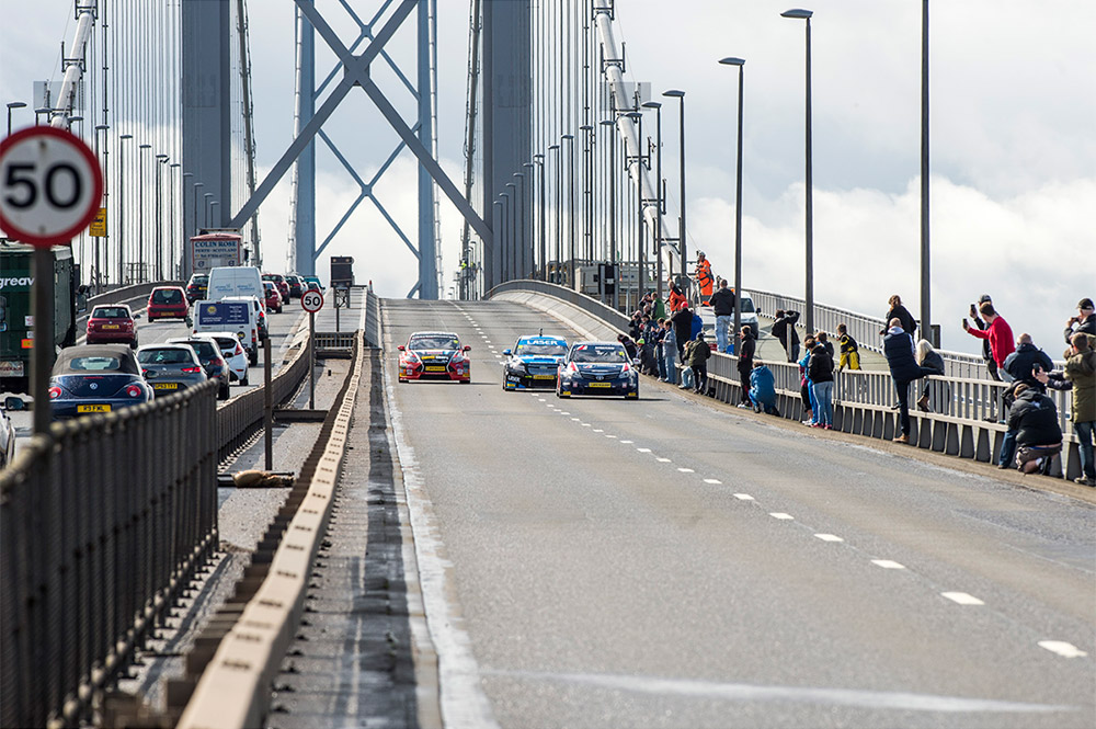 Jim Clark BTCC touring cards forth bridge parade