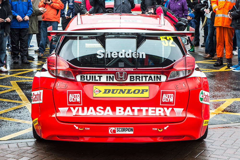 Gordon Shedden BTCC car forth bridge