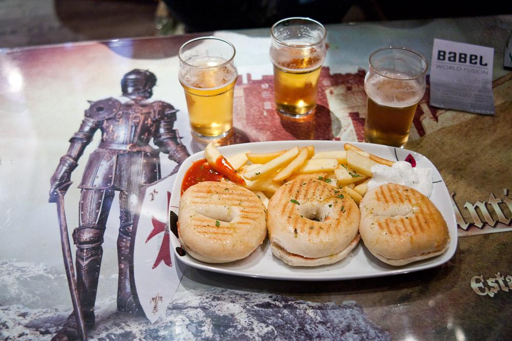Jamon bagel tapas Granada, Spain
