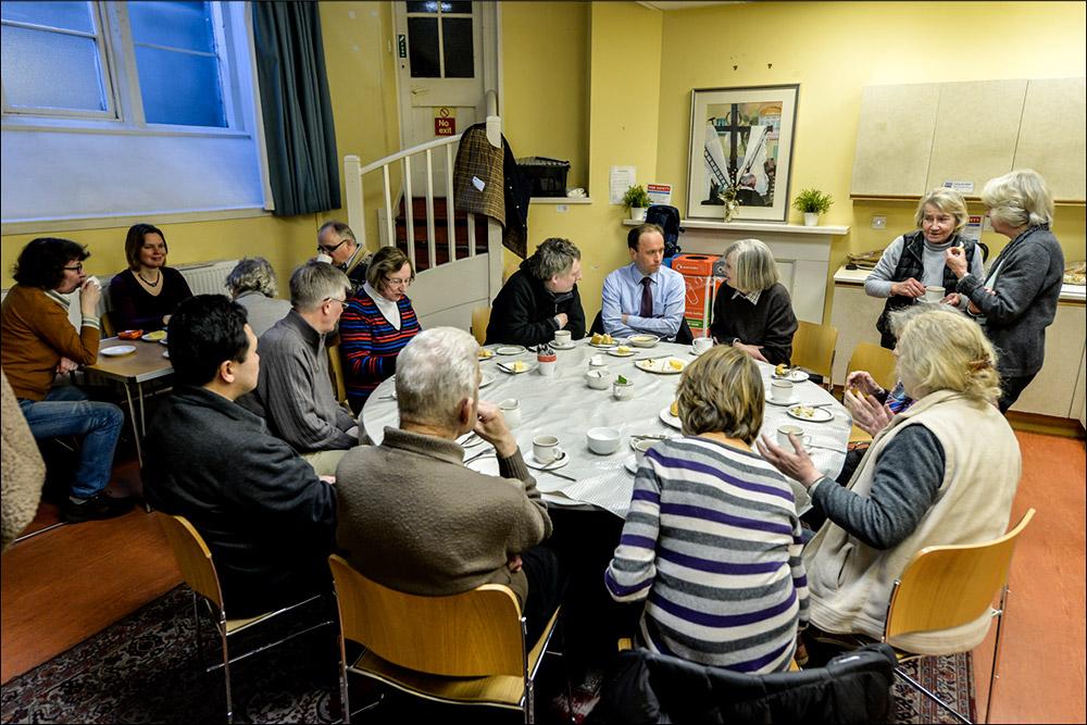 Soup and cheese lunch St Johns Church Edinburgh
