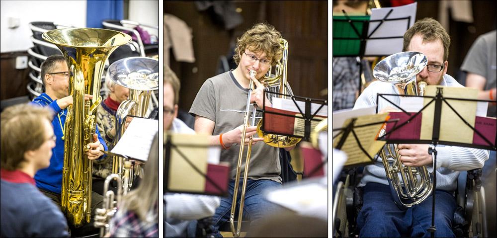 Edinburgh Brass Band Rehearsal