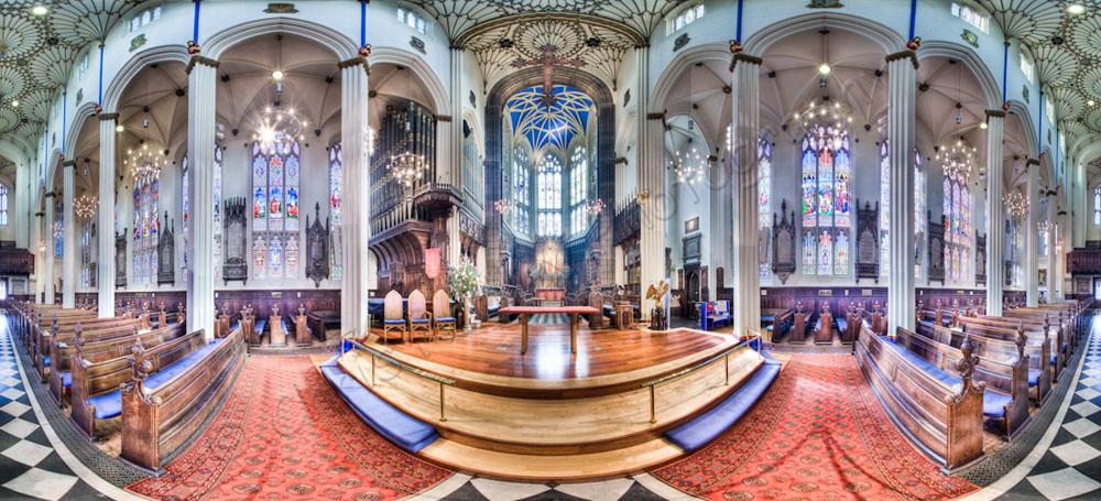 St Johns Church Edinburgh Interior Panoramic