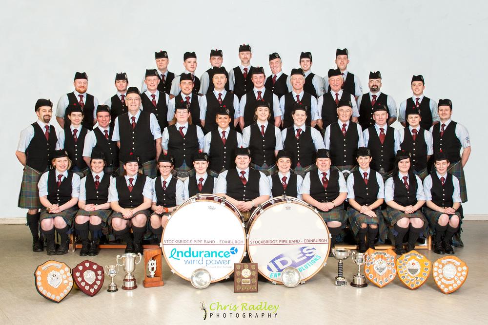 Stockbridge Pipe Band Group Photo Edinburgh