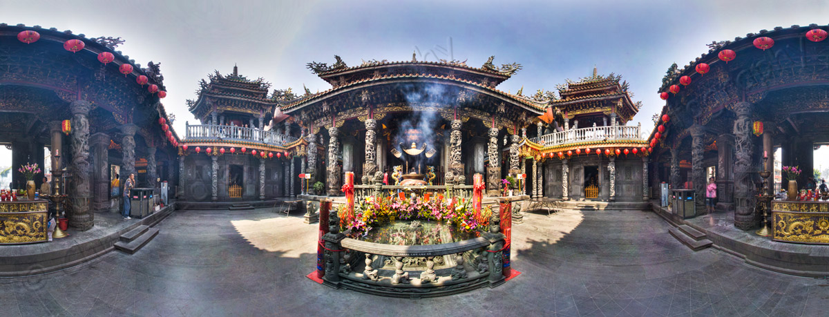 San Xia Zushi Temple Panoramic Taiwan