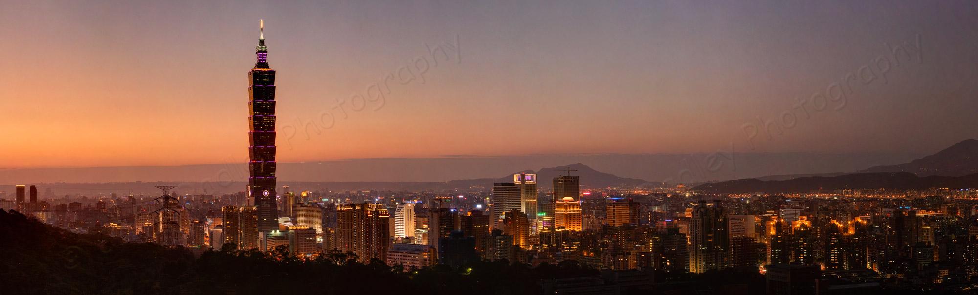 Taipei Skyline panoramic