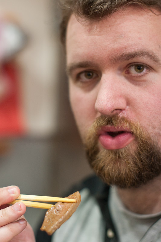 Chris eating Taipei
