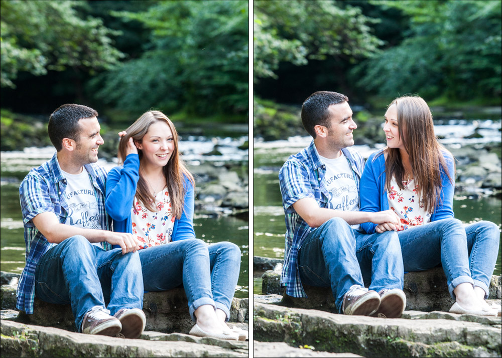 Dean Village Edinburgh Wedding Portrait