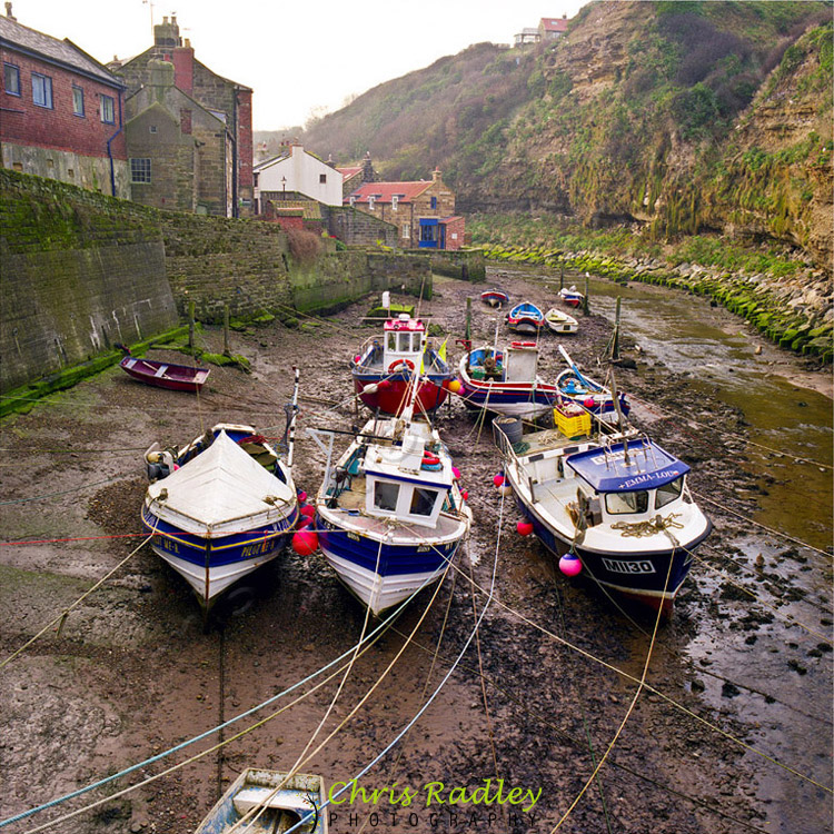 Staithes Boats Haselblad